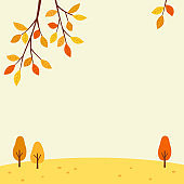 Autumn scenery. Fall nature landscape background.