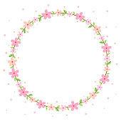 Cherry blossom wreath frame