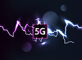 New 5G wifi Internet high-speed, innovative connection, the speed of data transmission technology vector illustration. Vector