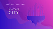 Abstract landing page banner