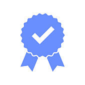 Warranty isolated vector element. Guarantee sign. Ribbon banner. Premium quality stamp. Medal stamp icon. Certified product.