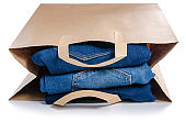 Bag package stack jeans