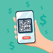 people scan QR code vector illustration concept, people use smartphone and scan qr code for payment and everything