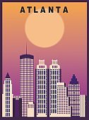 Atlanta city USA Travel background
