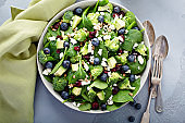 Fresh spinach and feta salad