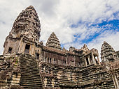 Architectures of Angkor Wat Temple, Siem Reap, Cambodia