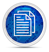 Document pages icon Deluxe Blue Round Button