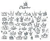 doodle set of crowns