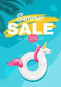 Summer season sale flyer template
