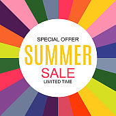 Summer Sale concept Background. Vector Illustration