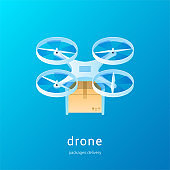 Quadcopter with the package concept01