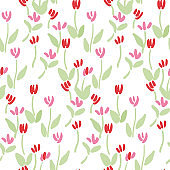 Abstract tulip pattern