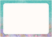 Blue gradient frame background frame hand painted watercolor style