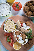 Falafel, fried chickpea balls