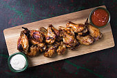 Texas style chicken wings