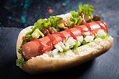 Classic american hot dog