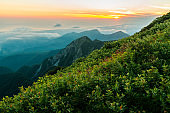 Sunrise at Mount Daisen (Tottori, Japan)