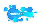 Probiotic bacteria on isolated background. Prebiotic micro lactobacillus icon. Probiotic bacterium for human stomach. Concept healthy nutrition with probiotics. vector