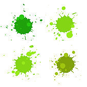 Abstract artistic paint drops