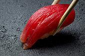 sushi tuna on a plate