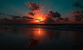 Magic sunrise in Boa Viagem beach