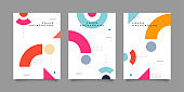 retro style geometric cover collection