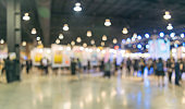 People in the exhibition center And the mall blurred image