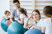 Pilates classes at school