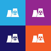 nuclear power plant silhouette icon. Signs and symbols can be used for web, logo, mobile app, UI, UX