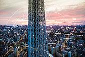 Futuristic Tokyo electromagnetic signals