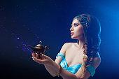 Jasmine the heroine of the Eastern fairy tale, Arab night