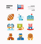 American icon set 1.