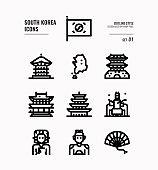 South Korea icon set 1.