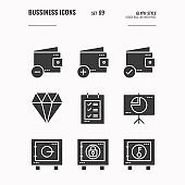 Business and financial icons set 9.