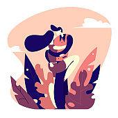 Flat style illustration