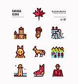 Canada icon set 2.