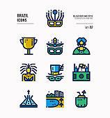 Brazil icon set 2.