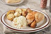 Homemade chicken dinner