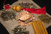 Still life combination of traditional Chinese medicine