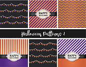 Set of Halloween festival pattern
