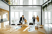 Business people working in the meeting room