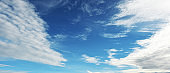 Beautiful clouds with blue sky landscape