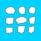Set of blank speech bubbles. Vector icon template