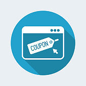 Coupon online concept icon