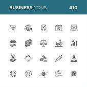 Business icon set 10