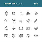Business icons set #06 - Part of a series - Iconset with symbol of finance, marketing, bank, startup, law, commerce, money, insurance. Icon perfect for all uses!