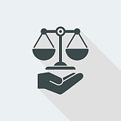 Legal assistance service icon