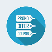 Promo, offer and coupon label tag