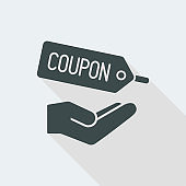Coupon offer flat icon