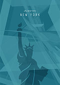 New York abstract poster